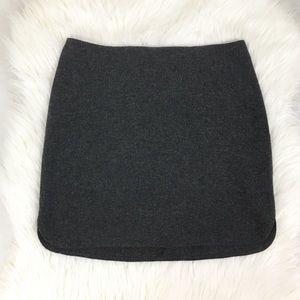 Madewell Gray Lightweight Wool Mini Skirt